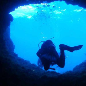 Tauchen Mallorca cave